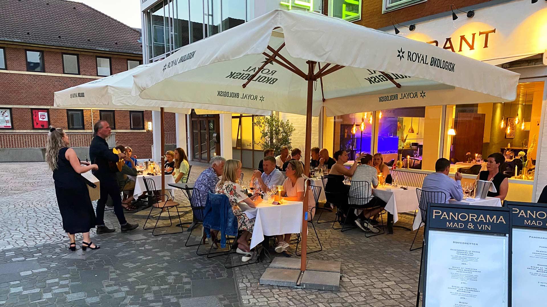 Udendørs restaurant i Silkeborg